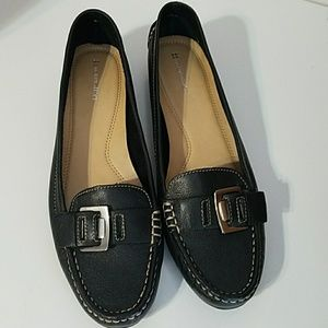 Naturalizer Black Heaven Leather Flats